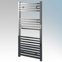 Vent-Axia 447863 ATACAMASS Chrome Designer Flat Box Section Towel Rail With Wall Brackets 250W W:500mm x H:1000mm x D:92mm