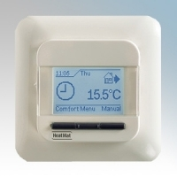 Heatmat NGT-567-0010 Ivory 4th Generation Programmable Thermostat With Blue Backlit Display 3600W 16A