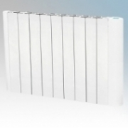 Hyco AVG1500T Avignon White Slimline Low Curved Energy Electric Radiator With Digital Thermostat & Timer IP20 1500W W:800mm x H:575mm x D:80mm