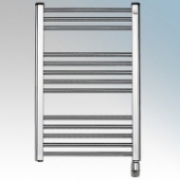 Elnur TBC8 TC Series Chrome Ladder Style Electric Towel Rail With Electronic Control & Frost Protection 300W H:870mm x 500mm x D:80mm
