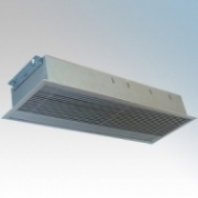 Consort RAC0604 Screenzone White 1Ph Recessed Commercial Air Curtain With Remote Switch, 3 Heat Settings & White Grille 4.5kW 240V L:339mm x W:634mm x D:155mm