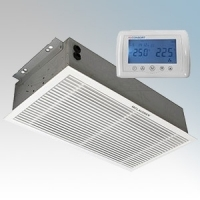 Consort RAC0604RX Screenzone White 1Ph Wireless Controlled Recessed Commercial Air Curtain With White Grille - Requires CRX2 Controller 4.5kW 240V L:339mm x W:634mm x D:155mm