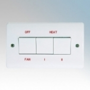 Consort HE8407 Screenzone White Remote Switch For Non Wireless Enabled Air Curtains 20A