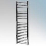 Vent-Axia 447858 VATRF400C Chrome Flat Ladder Style Towel Rail With Wall Brackets 400W W:500mm x H:1500mm x D:84mm