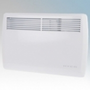 Hyco AN1500T Accona White Electric Panel Heater With Thermostatic Control & 7 Day Timer 1500W W:700mm x H:440mm x D:98mm