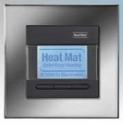 Heatmat NGT-BLK-CHRM Designer Programmable Thermostat With Chrome Frame & Black Fascia 3600W 16A