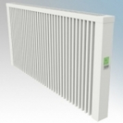 ElectroRad AF07 Aeroflow White Low Energy Fireclay Core Electric Radiator With Digital Room Thermostat & Programmer 2500W W:1280mm x H:610mm x D:90mm