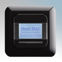 Heatmat NGT-BLK-0010 Black 4th Generation Programmable Thermostat With Blue Backlit Display 3600W 16A