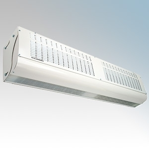 Consort CA1309S Screenzone White Extra Wide Air Curtain With Integral Controls, Remote Switch & Bracket 1Ph/3Ph 9.0kW H:276mm x W:1305mm x D:199mm
