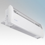 Consort HE7402RX Screenzone White Wireless Controlled Air Curtain With Adjustable Air Flow Direction & Bracket For Single Doorways - Requires CRX2 Controller 3.0kW H:211mm x W:634mm x D:121mm