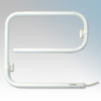 Consort TRJ40 Toweldry White Wall Mounting Tubular Steel Electric Towel Rail IP24 40W H:415mm x W:465mm x D:86mm