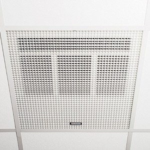 Consort HE7260RX White Wireless Controlled Recessed Ceiling Heater With White Aluminium Diffuser - Requires CRX2 Controller - Fits Standard 600mm Ceiling Panel 6.0kW L:595mm x W:595mm x D:175mm