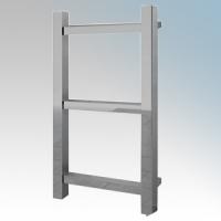 Vent-Axia 447861 ATACAMALS Chrome Designer Flat Box Section Towel Rail With Wall Brackets 150W W:400mm x H:700mm x D:105mm