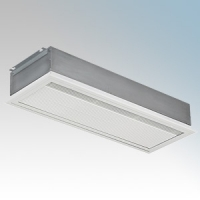 Consort HE8412 Screenzone White 3Ph Recessed Large Commercial Air Curtain With Electronic Controller + Temperature Sensor & Non-Vision Grille 12kW 415V H:395mm x W:1482mm x D:200mm