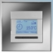 Heatmat NGT-SIL-CHRM Designer Programmable Thermostat With Chrome Frame & Silver Fascia 3600W 16A