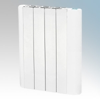 Hyco AVG600T Avignon White Slimline Low Curved Energy Electric Radiator With Digital Thermostat & Timer IP20 600W W:480mm x H:575mm x D:80mm
