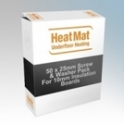 Heatmat TTB-111-1000 25mm Screws & Washers For Fixing 10mm Insulation Boards Onto Floorboards - Pack Size 50
