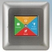 Heatmat NGT-2.0-SILV NGTouch Silver Electronic Colour Touchscreen Thermostat & Timer For Underfloor Heating Systems 16A H:82mm x W:82mm x D:40mm