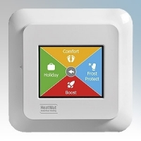 Heatmat NGT-2.0-STND NGTouch White Electronic Colour Touchscreen Thermostat & Timer For Underfloor Heating Systems 16A H:82mm x W:82mm x D:40mm
