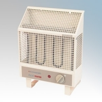 Consort UHA05 Frostfighter Barley White Frost Protection Radiant Heater With Variable Thermostat & Frost Protection Setting IP24 450W H:345mm x W:255mm x D:150mm