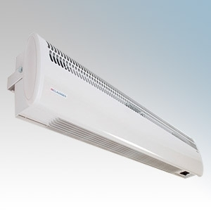 Consort HE8320 Screenzone White Air Curtain With Integral Controls, Adjustable Air Flow Direction & Bracket For Double Doorways 4.5kW H:211mm x W:1040mm x D:121mm