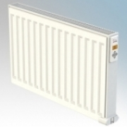ElectroRad DE50DX40 Digi-Line White Wireless Enabled Double Panel Electric Fluid Filled Radiator With Digital Thermostat 500W W:400mm x H:500mm x D:80mm