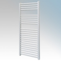 Vent-Axia 447856 VATRF250W White Flat Ladder Style Towel Rail With Wall Brackets 250W W:500mm x H:1100mm x D:84mm