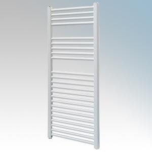 Vent-Axia 447856 VATRF250W White Flat Ladder Style Towel Rail With Wall Brackets 250W W:500mm x H:1100mm x D:84mm