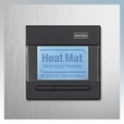 Heatmat NGT-BLK-ALUM Designer Programmable Thermostat With Brushed Aluminium Frame & Black Fascia 3600W 16A