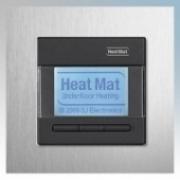 Heatmat NGT-BLK-ALUM Designer Programmable Thermostat With Brushed Aluminium Frame & Black Fascia 3600W 16A