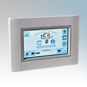 electrorad touche3 white wireless central touchscreen. Black Bedroom Furniture Sets. Home Design Ideas