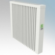 ElectroRad AF03D Aeroflow White Low Energy Fireclay Core Electric Radiator With Digital Room Thermostat & Programmer 1300W W:680mm x H:610mm x D:90mm