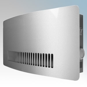 Consort WMH3RX Chelsea Lacquered Aluminium Wireless Controlled Contemporary Wall Mounting Fan Heater - Requires CRX2 Controller 3kW H:260mm x WL584mm x D:120mm