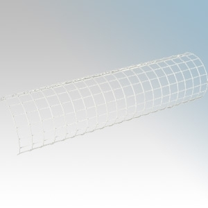 Eterna TRG3FT White Pressed Steel Curved Tubular Heater Guard With Fixing Kit L: 930mm / 3 Foot