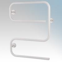 Hyco AL80SW Alize White S Shaped Tubular Electric Towel Rail With Mounting Brackets 80W W:500mm x H:645mm x D:110mm