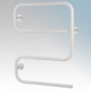 Hyco AL80SW Alize White S Shaped Tubular Electric Towel Rail With Mounting Brackets 80W W:500mm x H:645mm x D:110mm